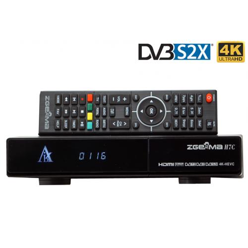 Zgemma H7C - 4K - 3 Tuners - 1 x DVB-S2X + 2 x DVB-T2/C